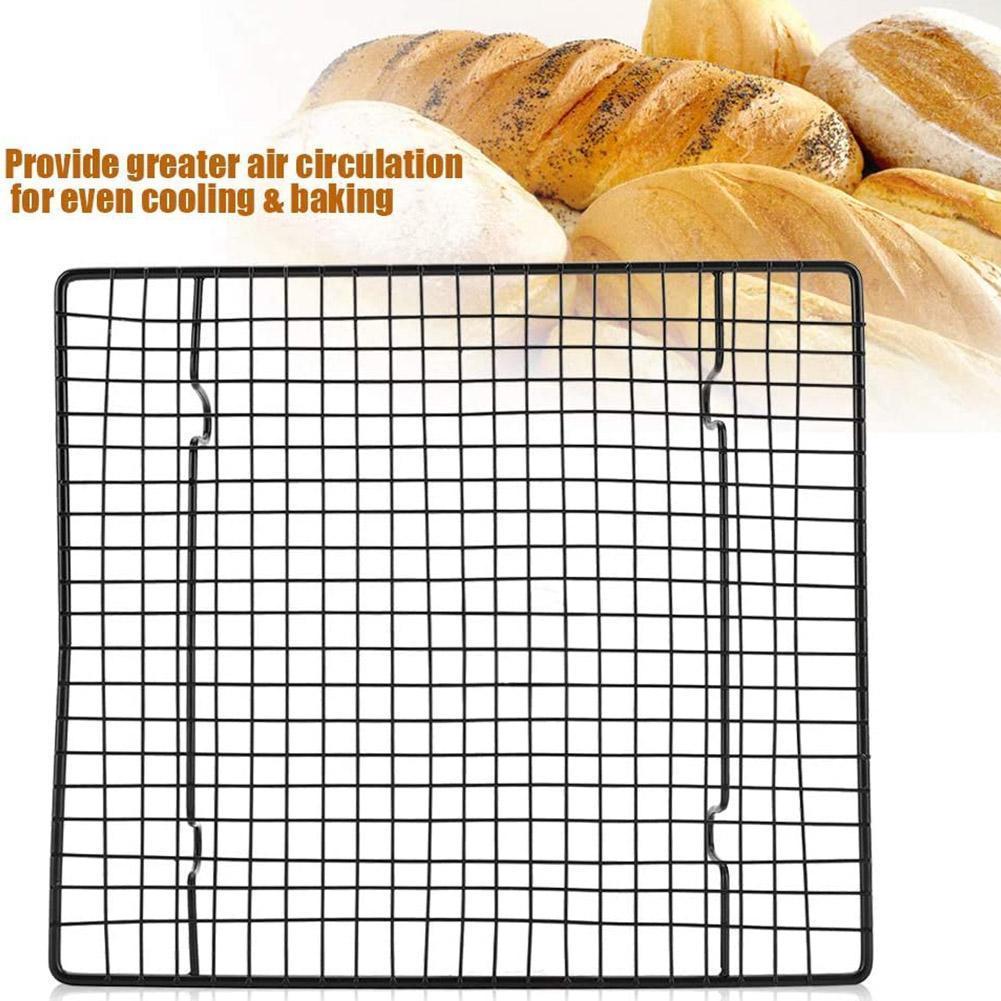 Steel Non-Stick Cake Cooling Net Baking Tray Rack Grill Net Utensils 26cmX23cmX3cm Baking Barbecue Cooling Non-St V9Z8