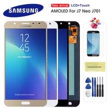 цена на Original AMOLED 5.5'' LCD For Samsung Galaxy  J7 Neo LCD Display J701 J701F J701M J701MT Touch Screen LCD Assembly Replacement