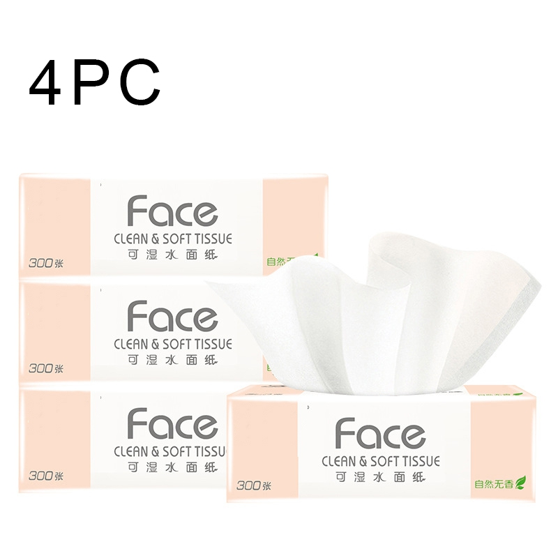4PC / Bag Toilet Paper Pump Paper Large Baby Available Paper Household Affordable Toilet Paper Tissue Disinfectant Wipes