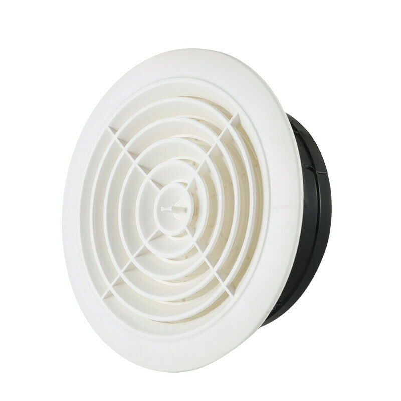 Round Air Vent ABS Louver Grille Cover Adjustable Exhaust Vent For Bathroom Office Ventilation AUG889