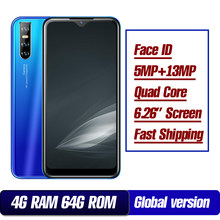 9A Global version smartphones 32G/64G ROM 4G RAM water drop screen 6.26inch 13mp face id unlocked mobie phones celulares 2SIM(China)