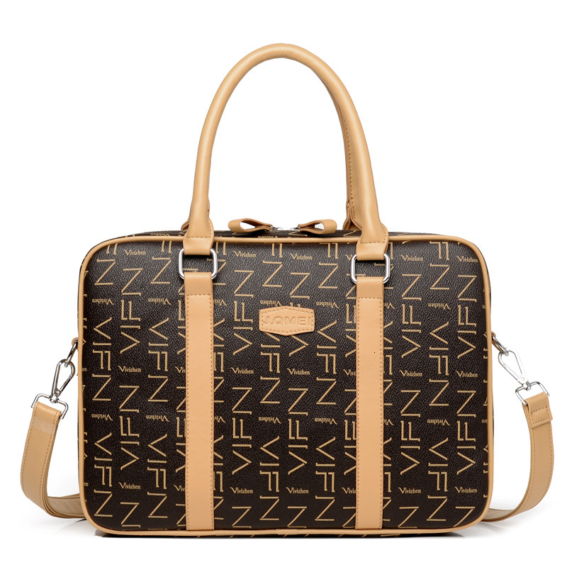 Waterproof Briefcase Women Leather Laptop Case 13 14 15 Inch Computer Bag Ladies Hand Bags
