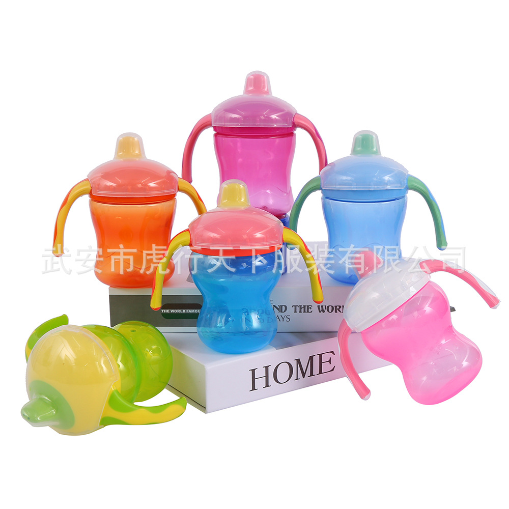 Double Color Soft Spout Waist Ya Zui Xing Training Pitcher Infant Training Kettle Baby Kettle Sippy Cup 260 Ml