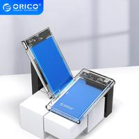 ORICO 2.5 Inch HDD Enclosure SATA to USB 3.1 Gen1 Transparent Hard Drive Enclosure for HDD SSD Disk 5Gbps External HDD Case