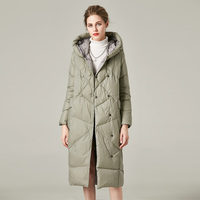 women down coat Winter long down jacket With Unusual Design And Colors down parka down coat Gives Charm And Elegance FS19091