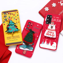 Christmas Gift Holder Case For Huawei P Smart 2020 Y8S Y8P Y7 Y7P Y6 Y6P Y5P Prime Y9 2018 Y8 P40 P30 P20 P10 Pro Lite Plus 2019(China)