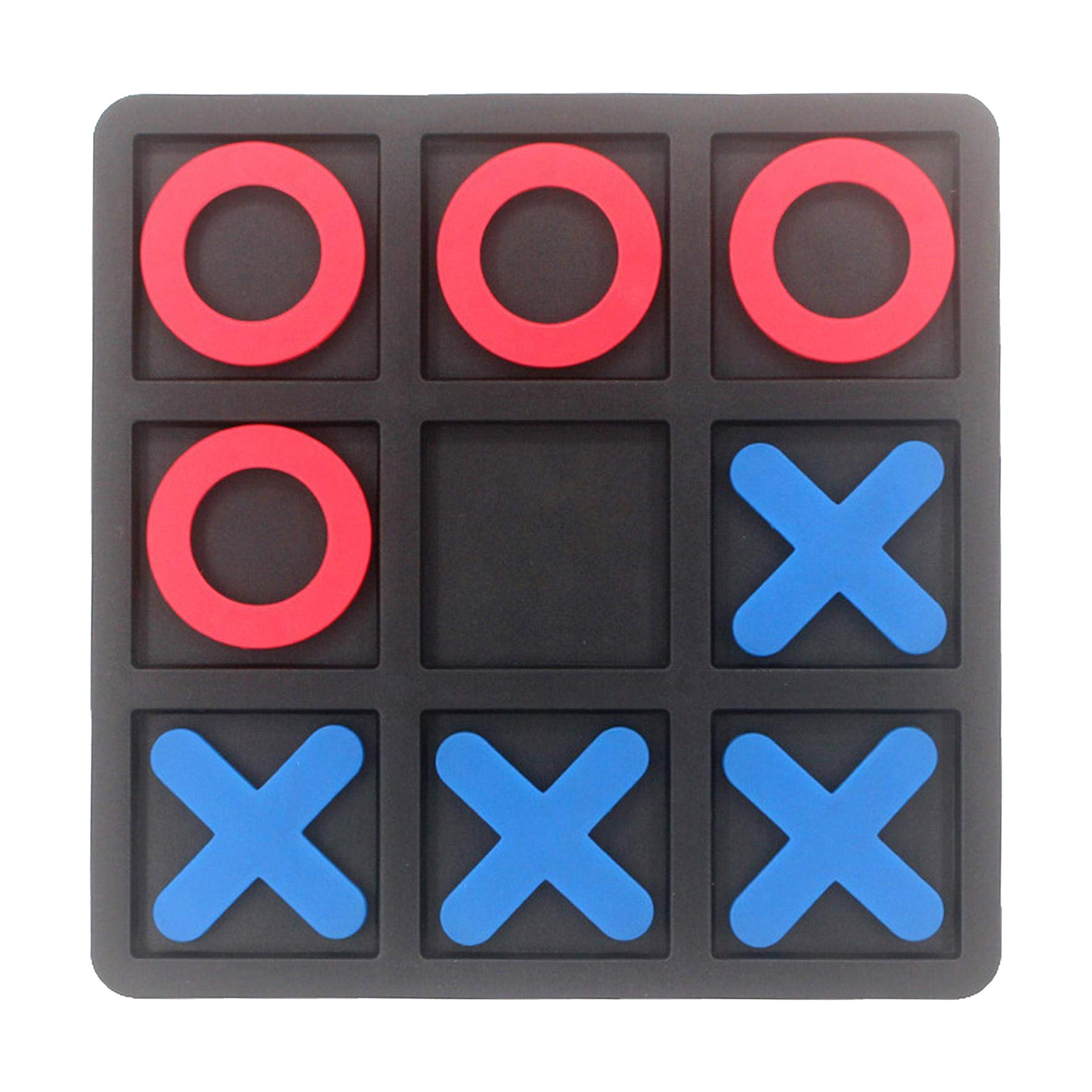 Noughts And Crosses Educational Puzzle Kids Children Wooden Board Games Indoor Playing Tic-tac-toe Noughts Family 5