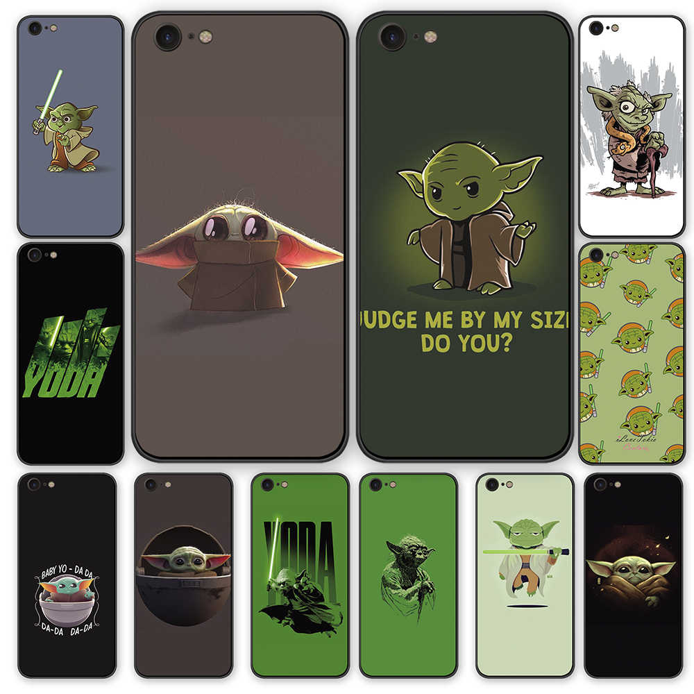 Cartoon Baby yoda meme cute phone case For iphone 5 6 6S 7 8 back cover X XS XR 11 Pro Max Slam Dunk silicone shell tpu case