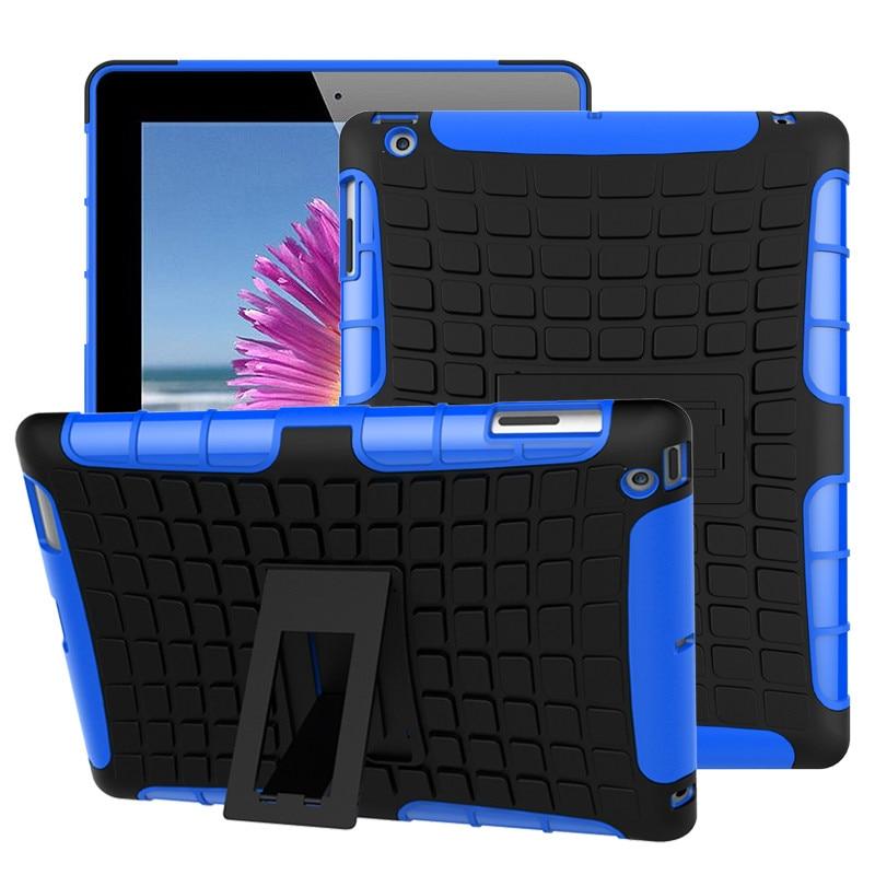 Чехол для планшета Apple iPad 2, 3, 4, армированный чехол из ТПУ и ПК для iPad модели A1430, A1460, A1395, гибридный противоударный чехол с активной подставкой ...