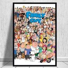 Семейный человек Горячая США мультфильм Симпсоны художественный постер картина Картина Настенная картина домашний декор, плакаты и принты
