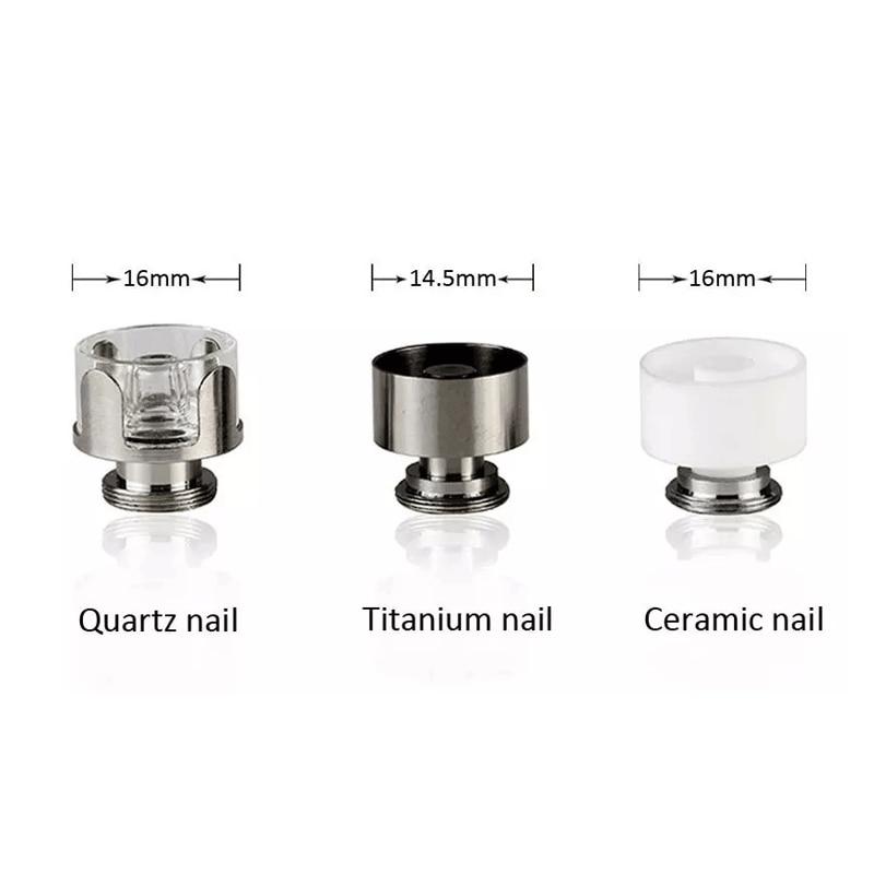2pcs/lot 510Nail 16mm XL Ceramic/Quartz/Titanium E Nail Heating Coil Cup Bowl Chamber For G9 Mini Henail Plus Ecube Master Enail