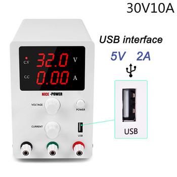 30v 10a zasilacz laboratoryjny wyświetlacz cyfrowy regulowany przełącznik zasilacz dc regulator napięcia 220 v 110v nowości tanie i dobre opinie Nice-power R-SPS3010 Jednofazowy 110V 220 0-30V 0-10A