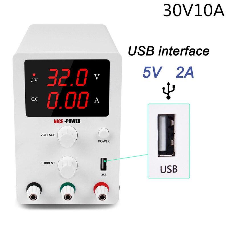 Alimentation de laboratoire 30v 10a | Affichage numérique, commutation réglable, régulateur de tension d