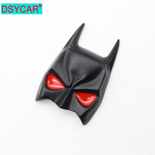 DSYCAR 3D Metal Bat Car Body Side Fender Rear Trunk Emblem Badge Stickers,suit for all car,car accessories stickers цена и фото