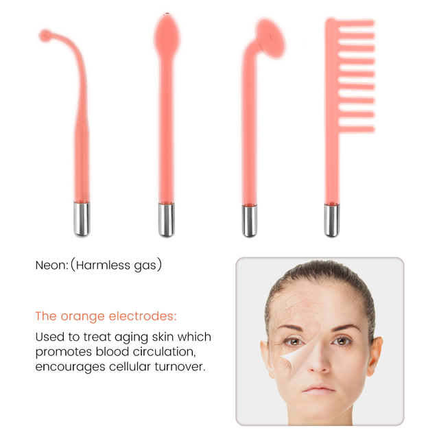 Electrotherapy Glass Tube Beauty Device 2