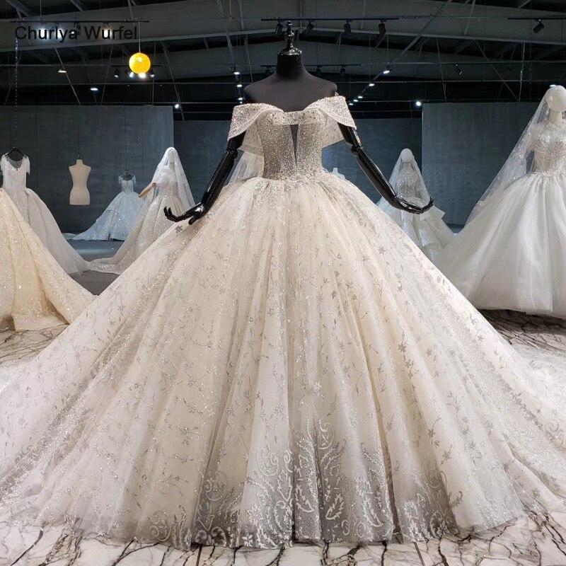 HTL1037 2020 New Ball Gown Wedding Dress Sweetheart Collar Off The Shoulder Lace Up Back Design Wedding Dress Vestido De Noiva