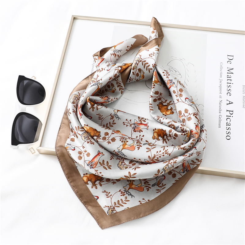 2020 Designer Brand Women Scarf Fashion Summer Silk Scarves Square Shawls For Lady Hair Neck Scarfs Office Handkerchief Foulard