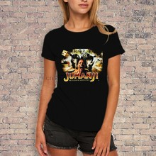 Jumanji 2017 The Rock Movie T-shirt Womens Style(China)