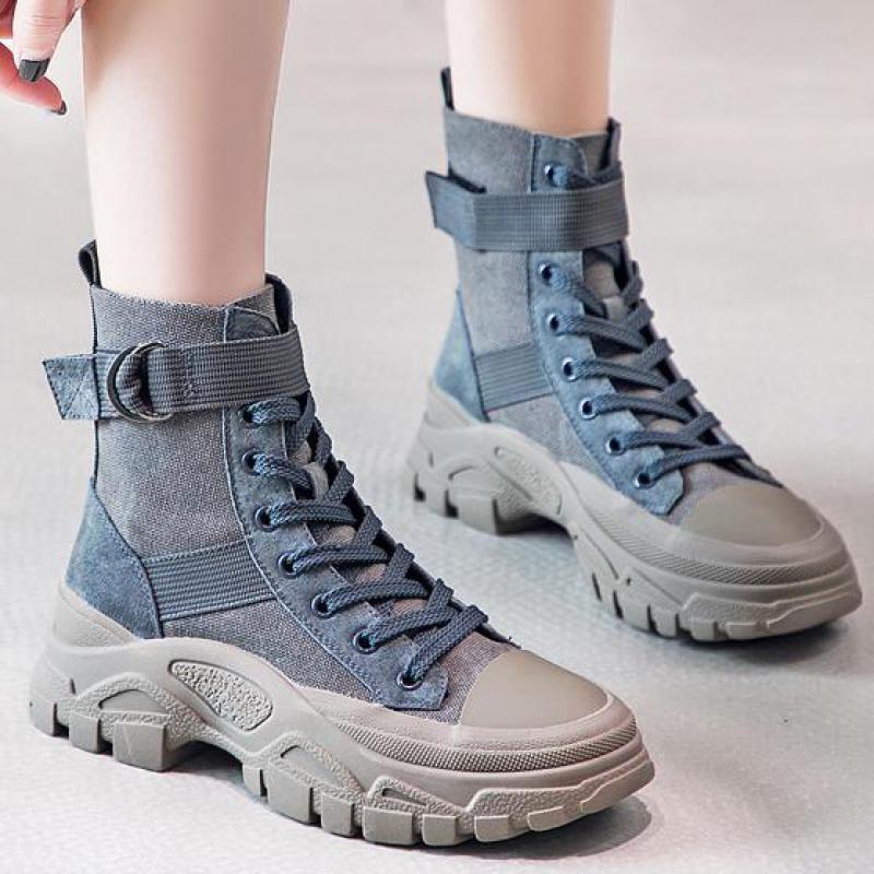 Femmes bottes militaires Force spéciale désert Combat dame plate-forme bottines armée femme travail chaussures en cuir véritable moto chaussure
