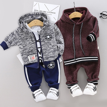 New children's clothing handsome denim suit 1 2 3 4 years old toddler boy girl autumn fashion 2PCS denim boy jacket + pants 1