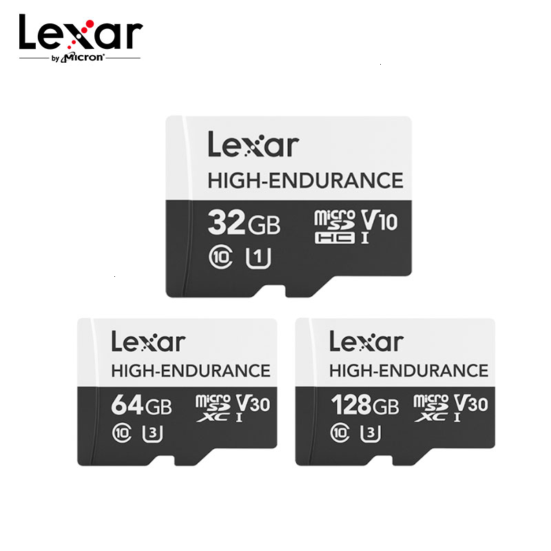 Lexar High Endurance Micro SD Card Max 100MB/s Memory Card 32GB SDHC V10 64GB 128GB SDXC V30 C10 Waterproof TF Card For 4K Video