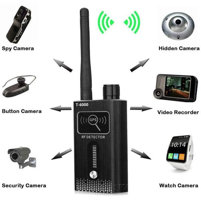T6000 RF Signal Detector Anti Candid Hidden Camera Spy Gadgets Espias GSM GPS Tracker Wireless Audio Bug for Wiretapping Finder 3