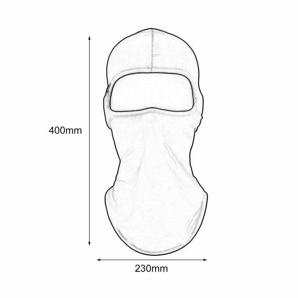 Couleur unie anti-poussière hommes femmes tactique moto cyclisme chasse en plein air Ski masque facial casque masque complet