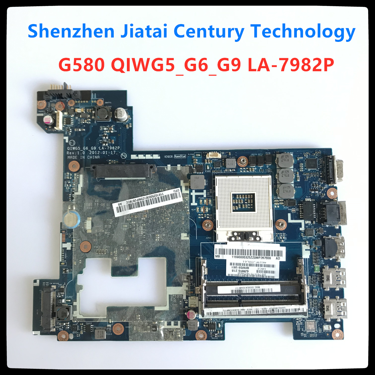 Free Shipping QIWG5_G6_G9 LA-7982P LAPTOP MOTHERBOARD FIT FOR LENOVO G580 P580 NOTEBOOK MAINBOARD High Quality Tested 100% Work
