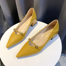 Sexy zapatos de punta puntiaguda para mujer Zapatos de tacón bajo zapatos de oficina zapatos de señoras Vintage zapatos de Ballerinas para mujer 2019 nuevo deslizamiento en los zapatos
