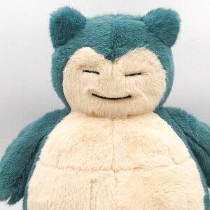 Takara Tomy japonia Anime detektyw Pikachu Pokemon nadziewane Snorlax 30CM pluszowa miękka zabawka świąteczne prezenty dla dzieci