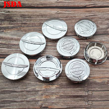 4 Pcs 54 Mm 64 Mm ABS Chrome Chrysler Logo Mobil Lambang Roda Pusat Hub Cap Auto Rim Pasang Kreatif dekorasi Lencana Covers Styling(China)