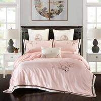 2020 Luxury Tencel Chinese elegance Bedding Set Delicate Soft Duvet Cover Sets Bed Sheet Pillowcases Queen King Size 4/6/7Pcs