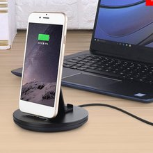 цена на For iPhone charging dock station desk mobile support Charger for mobile phone Holder For Android Xiaomi Type C stand table base