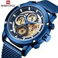 NAVIFORCE Лидирующий бренд мужские s часы Роскошные бизнес часы хронограф кварцевые мужские армейские наручные часы Мужские часы Relogio Masculino
