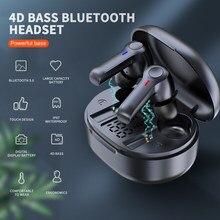 R22 Draadloze Oordopjes Tws 5.1 Bluetooth Oortelefoon Draadloze Headset Led Display IPX8 Waterdichte 40 Uur Hifi Premium Sound Noise