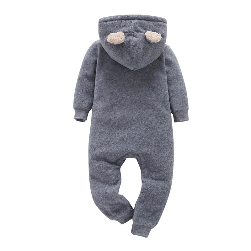 H15ecfd9817374ff0b2c79f62a67917f4N 2019 Fall Winter Warm Infant Baby Rompers Coral Fleece Animal Overall Baby Boy Gril Halloween Xmas Costume Clothes Baby jumpsuit
