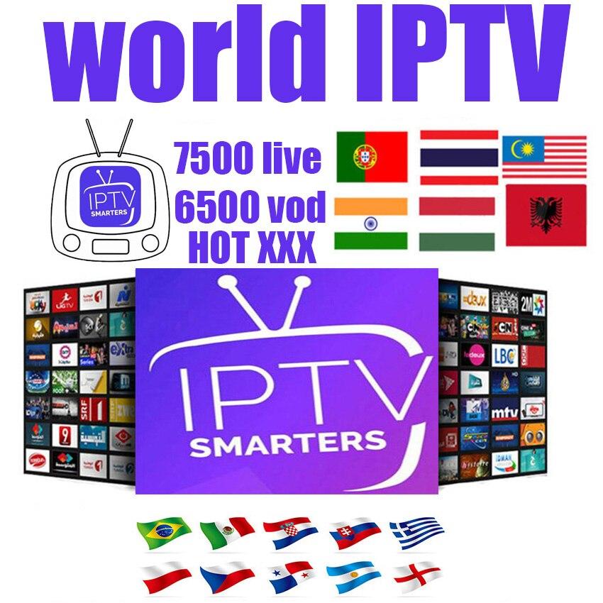 7000+ Italian Iptv Subscription Iptv Mag Box 254 France Spain Turkey HL USA UK  Free Test Adult For M3U Android  Smart TV Box Pc