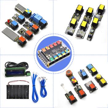 Keyestudio Rj11 micro bitowy zestaw do nauki wtyczki Eesy Super zestaw startowy do BBC micro zestaw bitów STEM EDU (bez baterii) tanie i dobre opinie Microbit Basic Starter Kit BBC micro bit CN (pochodzenie) 230x164x60mm