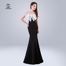 Skyyue Sexy Wrapped Chest Formal Gowns Women Party Dresses Soild Sleeveless Floor Length Evening Dress Robe De Soiree 2019 C141
