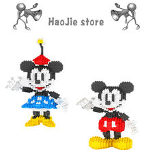 Mini Anime Cartoon Classic Mickey Minnie Block Model Series Compatible legoing Puzzle Assembled Building Blocks(China)