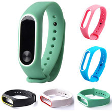 Sport Silicone belt Bracelet Watch Accessories Replacement Silica Gel Watch Wristband Band Strap For Xiaomi Mi Band 2 Bracelet#8(China)