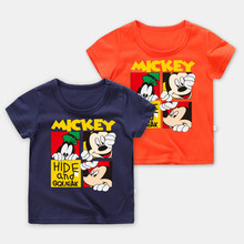 Fashion Baby Boy Clothes Disney Girl Clothing Mickey T-shirt Cartoon Bebe Cotton Kids Unisex