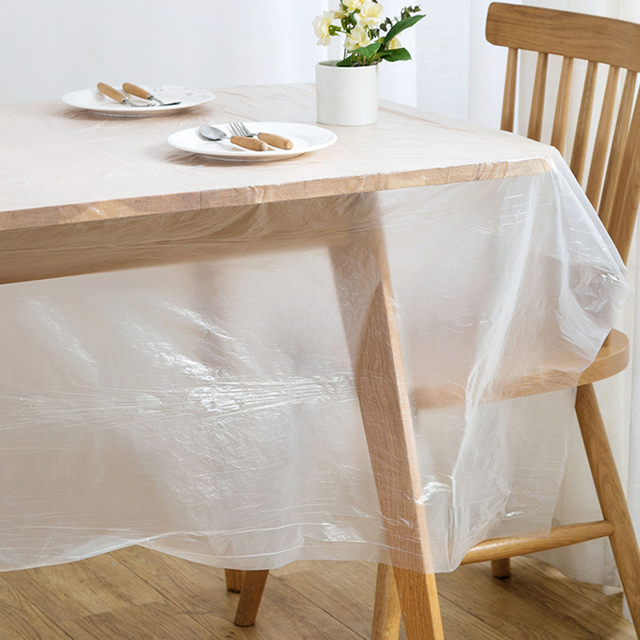 1 Roll Disposable Tablecloth Table Cover Table Cloth Birthday Party Home Decor
