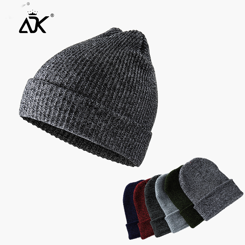 Unisex Hats Stripe Stretchy Cap Cuffed Beanies Autumn Winter Hats For Woman Bonnet Simple Design Decal Beanies