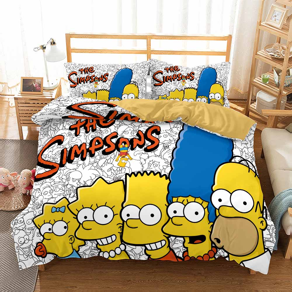 best simpson bedding sets funny children bedroom cover pillowcase 2 3 piece