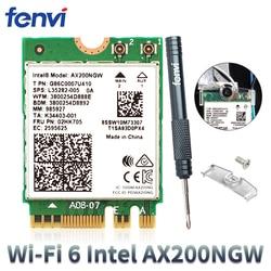 2400Mbps Dual Band 802.11ax Intel Wifi 6 AX200NGW M.2 Wlan Wireless Wi-Fi Adattatore Della Carta Per Intel AX200 Con BT 5.0 MU-MIMO