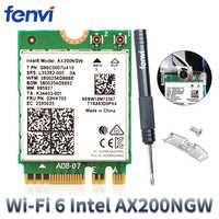 2400Mbps doble banda 802.11ax Intel Wifi 6 AX200NGW M.2 Wlan inalámbrica Wi-Fi adaptador de tarjeta para Intel AX200 con BT 5,0 MU-MIMO