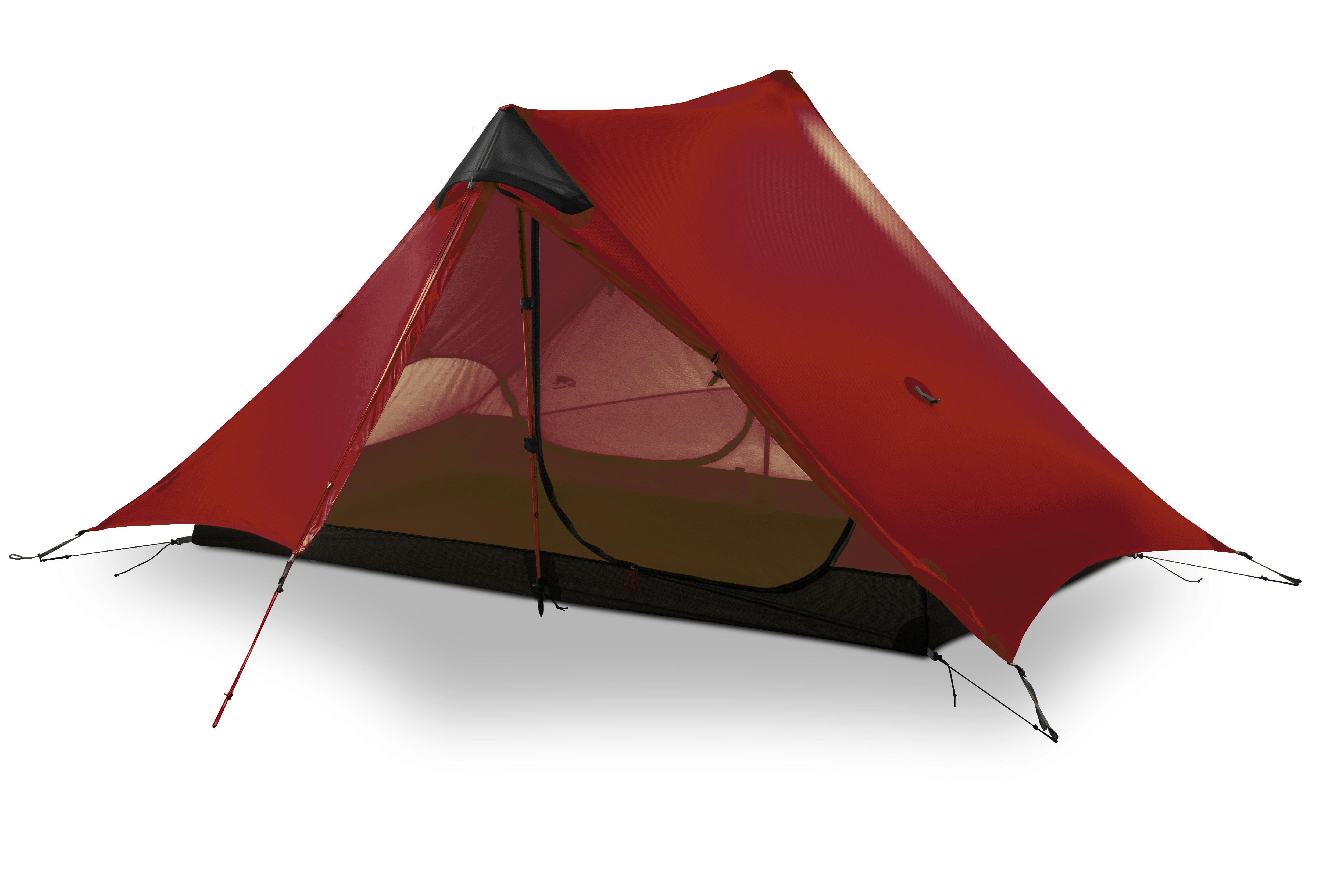 3F UL GEAR LanShan 2 Stockless 1 Person 2 Person Tent Oudoor Ultralight Camping 15D Silnylon 3 Season Tent Winter 4 Season Tent