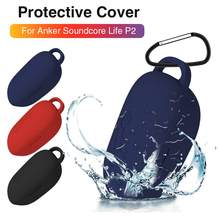 Earphone Case For Anker Soundcore LifeP2 Silicone Cover Wireless Bluetooth Headsets Protective Case For Anker Soundcore Life P2(China)