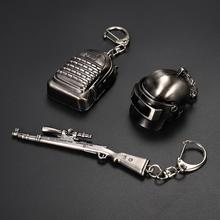 Game periphery key chain PUBG pan three-end 98K five-piece set of key chainring accessories metal model boy car key ring creative pubg key chainring pan metal key chain car pendant game key ring surrounding men s and women s small gifts